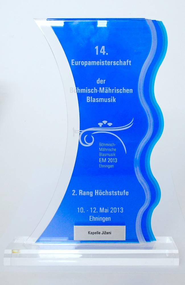 Diplom 14. ročník Mistrovství Evropy