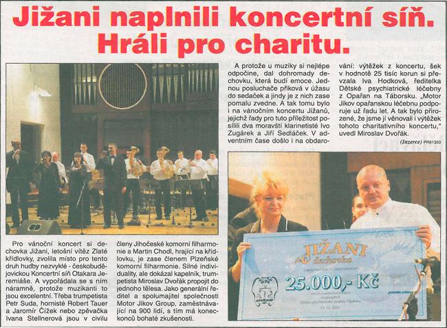 článek z deníku Právo 19.12.2012